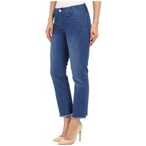 Sanctuary Marianne Blue Frayed Crop Jeans Sz 26 27
